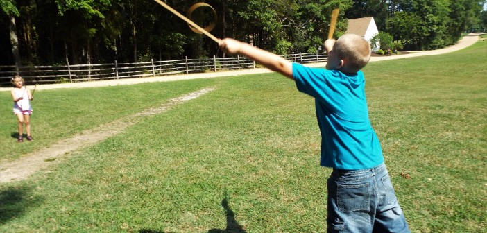 old fashioned games at Meadow Farm Museum